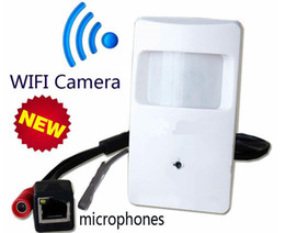 Wholesale Cheap Mini Cameras - Cheap Onvif 720P IP Hidden WIFI Covert Camera Motion Detector HD PIR STYLE Wireless IP Camera Mini Ip Camera Wifi P2P Security