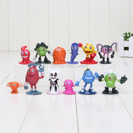 Wholesale Movies For Sales - 12pcs lot Hot sale Pac Man Cute cartoon Ghostly Adventures Action Figures Pacman Pixels Movie Figures Toys best gift for kid Free shipping