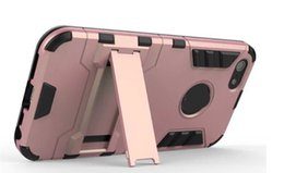 Wholesale Iphone 5c Cover Gold - For Iphone X 8 7 Plus 6 6S  Plus  5 5S 5SE SE  5C S9 Plus Ironman 2 in 1 Hybrid Layer Case Shockproof Hard pc+Soft TPU Stand ROSE GOLD Cover