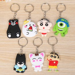 Wholesale Trinkets Sale - Hot Sales 19 Models Cartoon Trinket PVC Keychain Avengers Hello KT Key Ring Holder Key Chains Finder Souvenirs Gifts Item