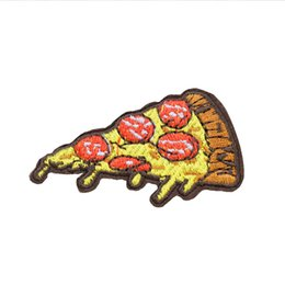 transfer bags Coupons - 10 PCS Pizza Patches for Clothing Bags Iron on Transfer Applique Cartoon Patch for Clothes Jeans DIY Sew on Embroidery Badge