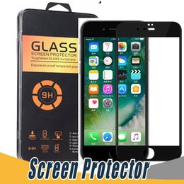 Wholesale Iphone Curved Covers - Soft Carbon Fiber Edge Full Screen Tempered Glass 3D Covered Protector For iPhone X 8 7 6 6S Plus With Retail Package