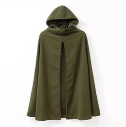 Wholesale Hooded Cloak Trench - Wholesale-Hooded Cardigan Cloak Trench Coat