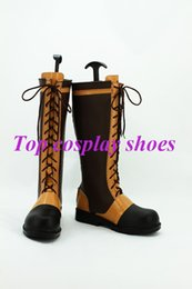 Wholesale Ciel Shoes - Wholesale-Freeshipping custom-made anime Black Butler Ciel Phantomhive cosplay Shoes Boots ver 4 for Halloween Christmas festival
