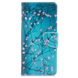 Wholesale Note Holster Wallet - For Samsung Note 8 S8 Plus Cover Painted PU Leather Cases Flip wallet Card Stents holster Wintersweet Phone Bags