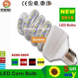 Wholesale Bulb Corn Led 16w - Super bright New 7W 9W 12W 16W 20W 24W SMD2835 Led Bulbs Corn Light E27 Led Lights AC 85-265V CE ROHS CSA UL