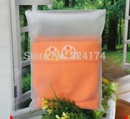 Wholesale Transparent Clothes Pouches - 20x28cm 50pcs lot 0.2mm Matte frosted travel pouch storage bags  sealed waterproof transparent ziplock bag for clothing