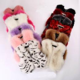 Wholesale Child Pink Fur Vest - 2016 Autumn Winter New Girl Waistcoat Faux Fur Sleeveless Thick Vest Leopard Coat Children Clothing 3223