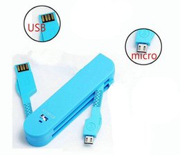 Wholesale Swiss Army Knives Wholesale - Micro USB cable for android samsung Multi-function travel Swiss Army Knife model Folding USB Data Sync Charger Cable