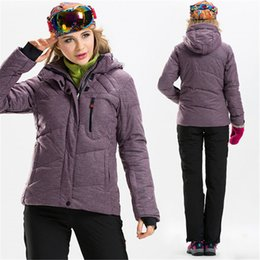 Wholesale Ms Wear - Wholesale-The New 2017 Winter Ski Mountaineering Wear Pure Color Charge Ms Breathable Waterproof The Cold Thickening Cotton-padded Clothes