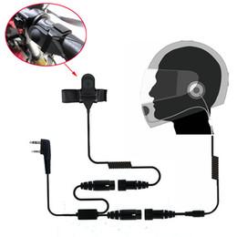 Wholesale Cb Motorcycle - 5pcs Motorcycle Full Helmet Headset Mic Earpiece for Kenwood Wouxun BAOFENG CB Radio UV-5R UV-5RA Plus UV-B6 UV5R KPG27D TK-3107