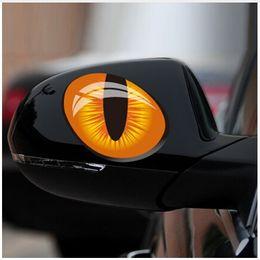 motor de vinilo Rebajas Lindo Simulación Ojos de Gato Pegatinas de Coches 3D Vinyl Decal Car Head Cubierta Del Motor Espejo Retrovisor Windows Decoración