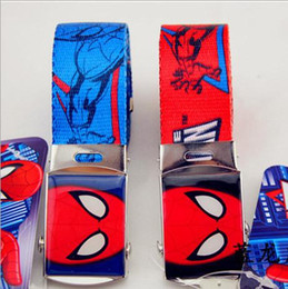 Wholesale Superman Canvas - 2016 New Arrival Kids Anime Spiderman Supermen Men Cartoon Character Children Jeans Belt For Women Fashion Boys Girls Handbag