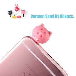 Wholesale Cartoon Dust Plug - Wholesale-Earphone Limited Dust Plug Dachshund 2016 New Cute Cartoon Design Dustproof Plug Caps Cell Phone Accessories With Box Packing