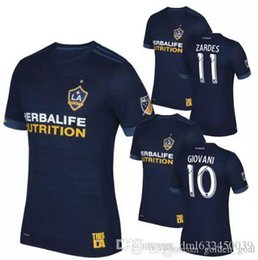 Wholesale Names Galaxies - top thai quality 17 18 galaxy soccer jerseys away custom name number soccer uniforms football jersey soccer clothing Lfree shipping