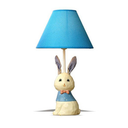 Wholesale Baby Modern Bedding - Cartoon Cloth Bunny Table Lamp Cute Baby Room Bedroom Desk Lamps Kids Room Small Table Light