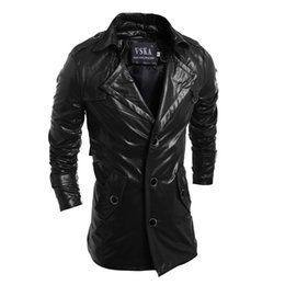 Wholesale Pu Leather Jacket Xxl - Fall-2016 new autumn men casual leather jacket motorcycle pu coat jaqueta couro M L XL XXL JPYG32