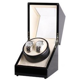 Wholesale Motor Clocks - Automatic Horloge Watch Winder Wood Box 2 Grids Roate Motor Watch Winder Case Shipping Uhrenbeweger Remontoir Montre Automatic Clock Winder