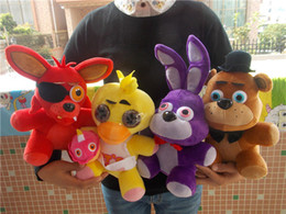 Wholesale Cheap Farm Animals - Wholesale cheap Hot 4pcs set FNAF Five Nights at Freddy's Chica Bonnie Foxy Plush Doll Toy Gift