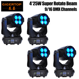 Wholesale Super Price - Wholesales Price 4 Units 4pcs*25W (100W)LED Super Beam+Wash Moving Head Light,LED Gobo Moving Head Beam Effect Disco Club Bar TIPTOP