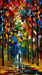 Palettenmesser malerei nacht online-Großhandel 100% Handgemalte dicke strukturierte Melodie der Nacht PALETTE KNIFE Landschaftskunst Ölgemälde oncanvas XY-81