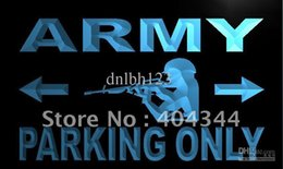 Wholesale Commercial Parking Lights - LN148-TM Army Parking Only Neon Light Sign. Advertising. led panel, Free Shipping, Wholesale