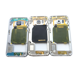 Oro del bordo della galassia s6 online-NUOVO Cover centrale per fotocamera con cornice per Samsung Galaxy S6 Edge G925A G925T G9250 grigio / oro / argento