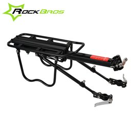 Wholesale Seat For Mountain Bike - Wholesale-ROCKBROS MTB Rack 75KG Alumiunm Alloy Mountain Bike Shelf Quick Release Cycling Back Seat Bicycle Bike Rack For V&Disc brake