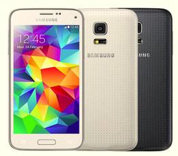 Мобильные телефоны galaxy s5 онлайн-Восстановленное Оригинал Samsung Галактики S5 мини G800 G800F G800A разблокирована сотовый телефон четырехъядерных процессоров 1.5 ГБ/16 ГБ 4.5 дюйма 16MP АТТ 4G пусть