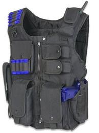 Wholesale Military Tactical Assault Vest - TACTICAL POLICE MILITARY ASSAULT VEST & PISTOL GUN HOLSTER - BLACK