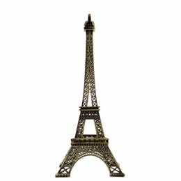 Canada Décoration Artisanat 25 cm Miniatures En Alliage Décor Vintage Bronze Ton Paris Tour Eiffel Figurine Statue Décoration de La Maison Offre