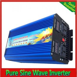 Wholesale Pure Sine Wave Inverter Ups - DHL Fedex UPS Free Shipping Excellent quality 4000W 8000W DC12V to AC120V pure sine wave inverter solar power inverter