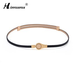 Wholesale Thin Belts For Dresses - Wholesale- New Fashion Painting Genuine Leather Belt For Women Thin Waist Women Belt For Dress Summer Style Buckle Leather Belts