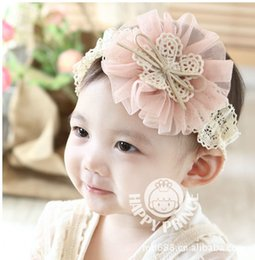 Wholesale Shop Wholesale Hair Color - Foreign Trade Korean Children Flower Hair Accessories 2 Yuan Jewelry Shop Baby Headband Children's Hair Band