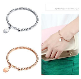 Wholesale Two Rings Balls - Women's jewelry Rose Gold   Silver Two Tone 316L Stainless Steel Fashion Ball Chain Cute Fortune cat Charms Bracelet Women