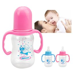 Wholesale Baby Product Bottle - 125ml Baby Feeding Bottle Infant Product Sippy Cup Feeder Milk Water Baby Bottle With Handle Kids Cup For Toddler