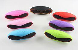 Wholesale Mini Football Speaker For Mp3 - Mini-X6U Rugby Football Stereo Speaker Subwoofers Mini Portable Soccer Wireless Bluetooth V3.0 Speakers With U Disk TF Card Mic