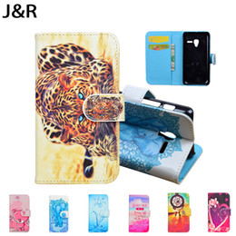 Одноразовый кошелек онлайн-Wholesale-For Alcatel One Touch Pixi 3 4.5 inch OT 4027X 4027D 4028A 4028E Case PU Leather Flip Cover Wallet Stand Phone Bag