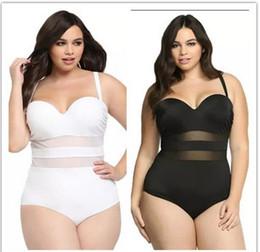 Encaje sexy más trajes de baño de tamaño online-Licy Jenny Women Plus tamaño grande Empalme de encaje sexy traje de baño desgaste de natación de una sola pieza envío gratis
