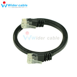 Wholesale Copper Network Cable - 3ft Black Color Full Copper Network Cable Thin CAT6 Cable Flat Ethernet Cable For Router High Performance 1.1mm thickness