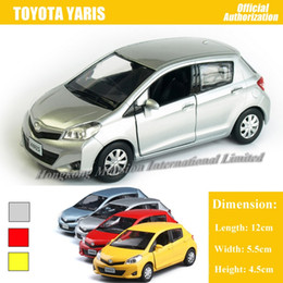 cars model lighting Coupons - Promotion 1:36 Scale Diecast Alloy Metal Car Model For TOYOTA Yaris Collection Model Pull Back Toys Car With Sound & Lights