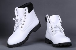 Wholesale H Shoes Men - Classic Waterproof Outdoor Work All White NO. H Boots Quality Winter Snow Boot Fashion Tims Leather Hiking Shoes Leisure Ankle Boots For Men