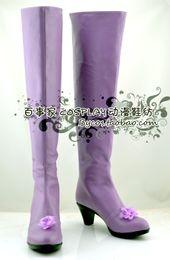 Wholesale Suigintou Cosplay Costume - Wholesale-Rozen Maiden Suigintou Mercury Lampe light purple high heel ver Cosplay Boots shoes shoe boot #NC374 anime Halloween Christmas