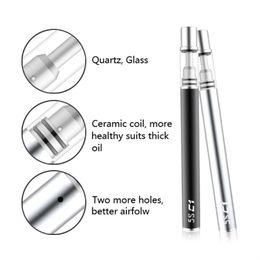 Wholesale Disposable Ecigarette - Ceramic coil Disposable ecigarette open vapor Authentic 5S cc vaporizer pen cartridges thick oil vape tanks
