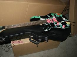 Wholesale Guitar Flower Custom - new Custom Left Handed Guitar 6 strings guitar flowers Electric Guitar Free Shipping