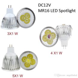 Wholesale Dimmable Mr16 Led Downlights - MR16 3W 4W 5W Spotlights with Super Bright High Power Cree LED Spot Light 12V White Bulb Non Dimmable Downlights Repace Halogen Lamp