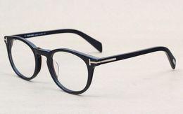Gafas para animales online-Clásico Retro Clear Lens Marcos Ópticos Gafas Diseñador de la marca Hombres Mujeres Anteojos 6123 Vintage Plank Espectáculo Miopía Gafas Marco