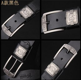Wholesale Pins Movie - 2016 hot sell Italy Men Renzo Rosso leather belt casual fashion belt pin buckle belt fashion brand retro Cow leather belt AAA Free shipping