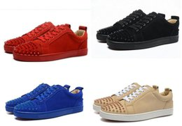 Wholesale Designers Woman Dress - Top Brand Men Women Walking Shoes,Sude Leather With Spikes toe Red Bottom Sneaker Shoes,Designer Casual Party Dress Shoes 36-46