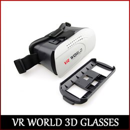 Wholesale Newest 3d Movies - Newest VR WORLD 3D Virtual Reality Glasses Movies Game Glasses For 4.7-6 Inch phone DHL free shipping